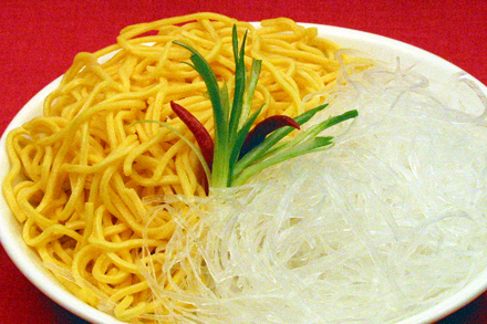Gold and Silver Noodles Platter