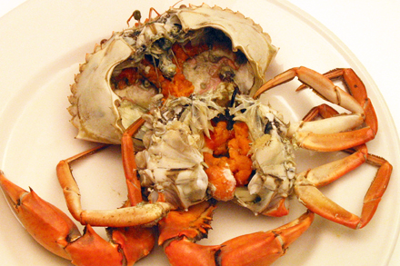 Cooked Crab with Roe
